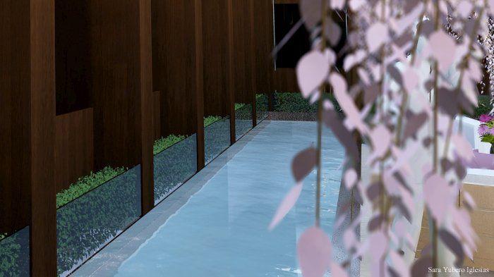AZOTEA 3D  infografía 3d max patio empresa