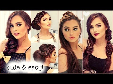 Cute & Easy NO HEAT Hairstyles for Fall 2015 - YouTube