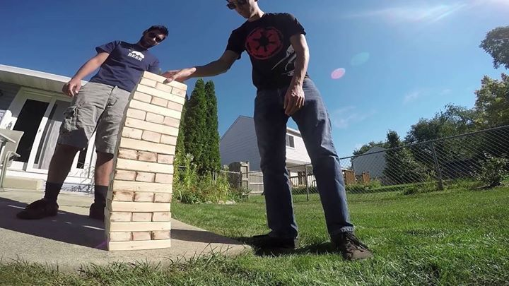 Make a GIANT Jenga tower Check out the full project https://www.youtube.com/watch?v=ivKsEevBplQ Don't Forget to Like Comment and Share! - http://ift.tt/1HQJd81