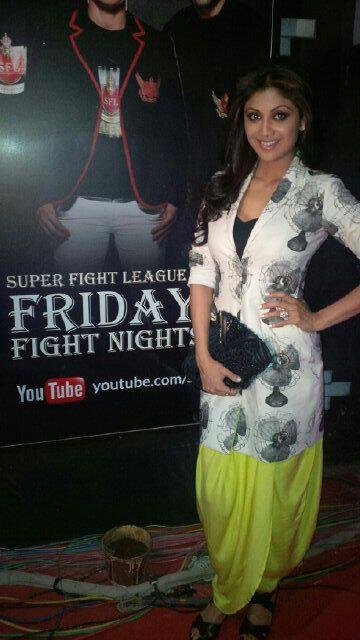 Shilpa Shetty in Masaba #Neon Salwar Suit