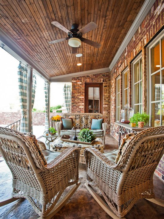 26 best images about back patio porch on pinterest for Covered back porch ideas