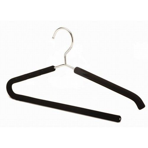 only hangers inc foam padded metal nonslip hanger with pant bar set of