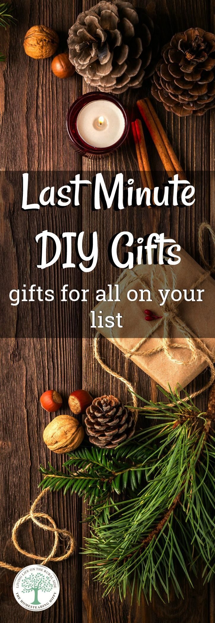 Try these easy diy projects that are perfect for anyone on your list! They make great last minute birthday gift ideas or for any other occasion. The Homesteading Hippy via @homesteadhippy