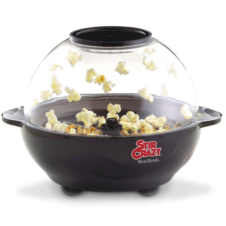 West Bend Stir Crazy 6-Quart Electric Popcorn Popper $19.99! (lowest price)
