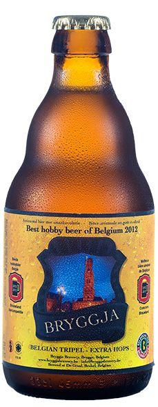 Cerveja Bryggja Tripel, estilo Belgian Tripel, produzida por Bryggja Brewery, Bélgica. 85% ABV de álcool.