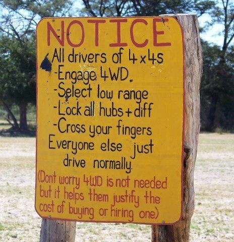 Funny Signs In South Africa. Sad, but true.