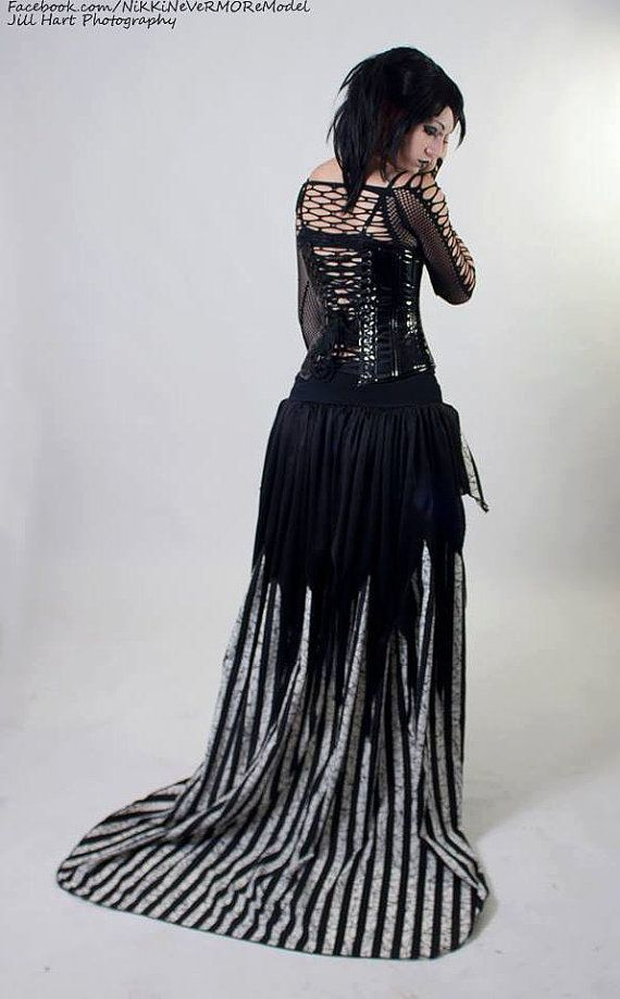 Nightmare jack Vampire noir formal skirt bridal wedding ...