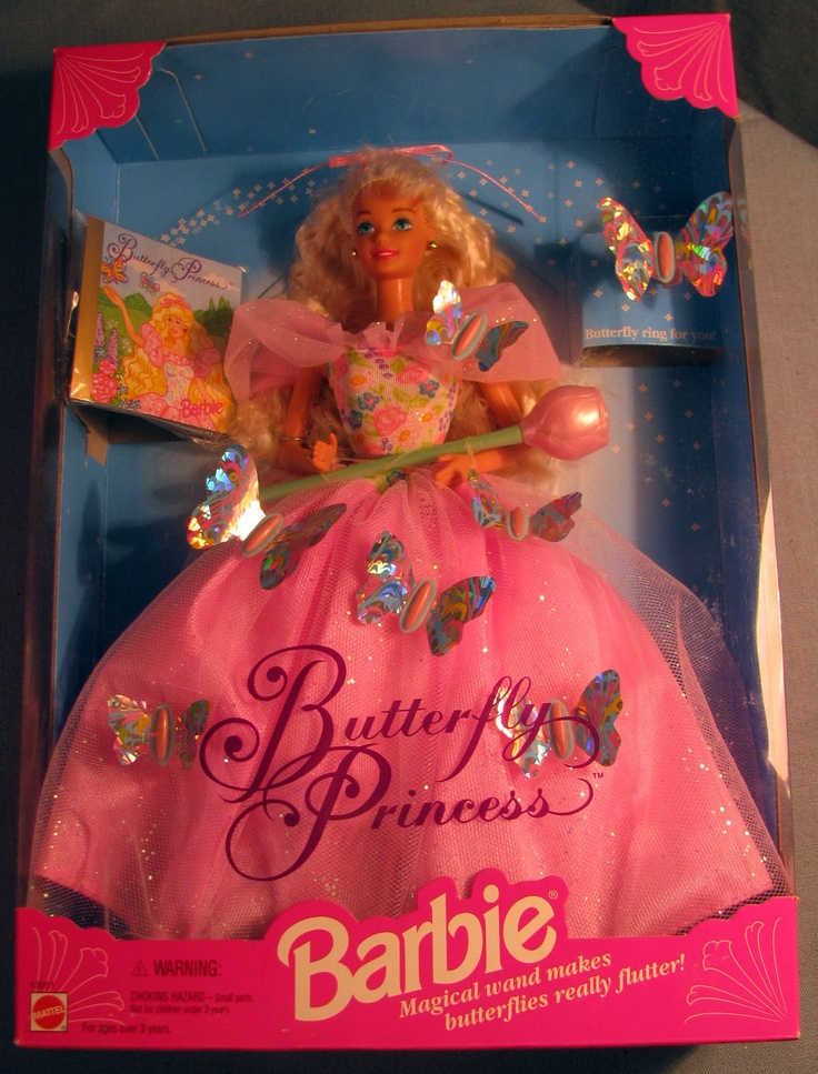 Butterfly Princess Barbie childhood 90s barbie 90's