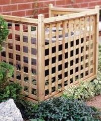 lattice air conditioner cover - such an improvement!