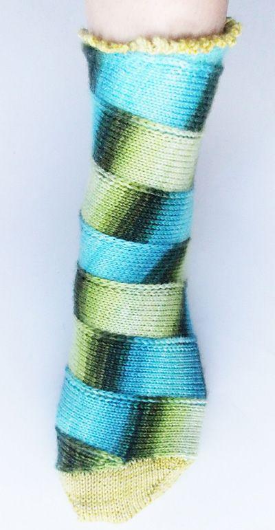 Awesome spiral socks...