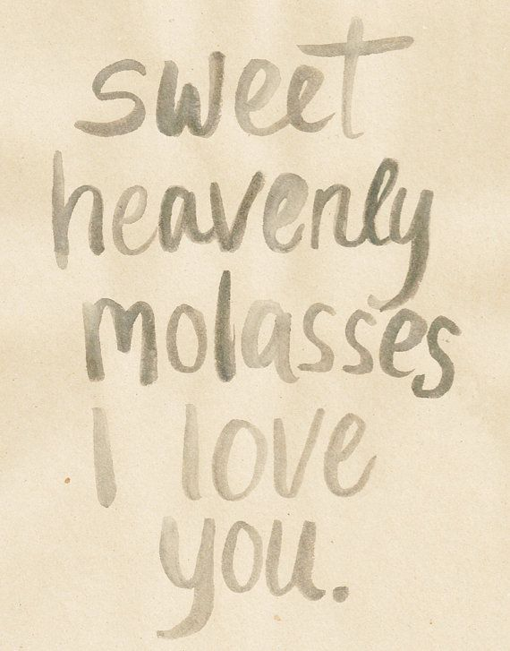 Sweet Heavenly Molasses Southern Vintage Love by KateMooreCreative, $15.00