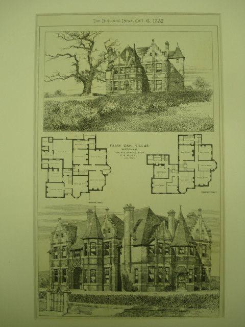 Fairy Oak Villas for W. E. Samuel, Esq., Wrexham, Wales, UK, 1882, E. A. Ould