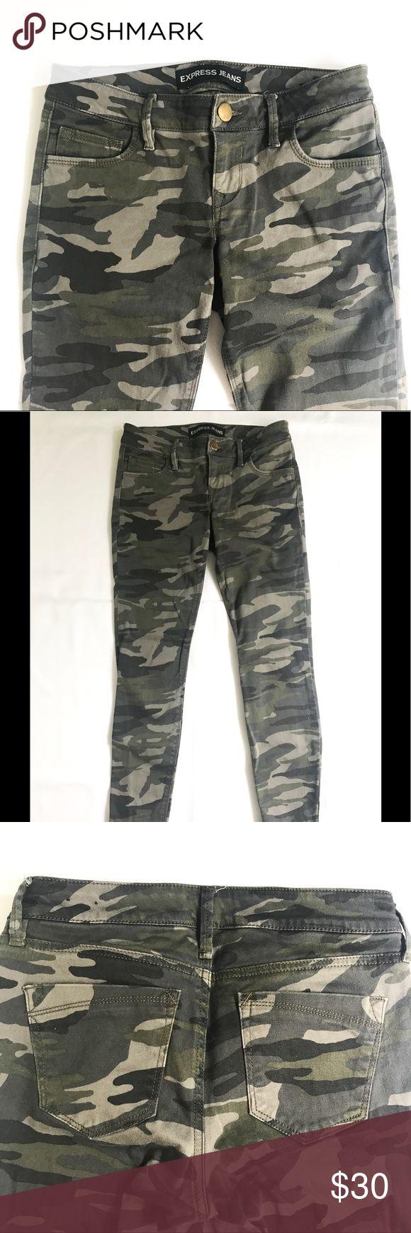 Express camo skinny pants Express camo skinny pants size 0.  Great condition! Express Pants Skinny