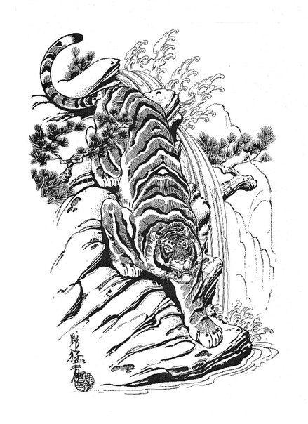 dragons snakes birds skulls jack mosher japanese pinterest bird skull tattoo and tiger. Black Bedroom Furniture Sets. Home Design Ideas