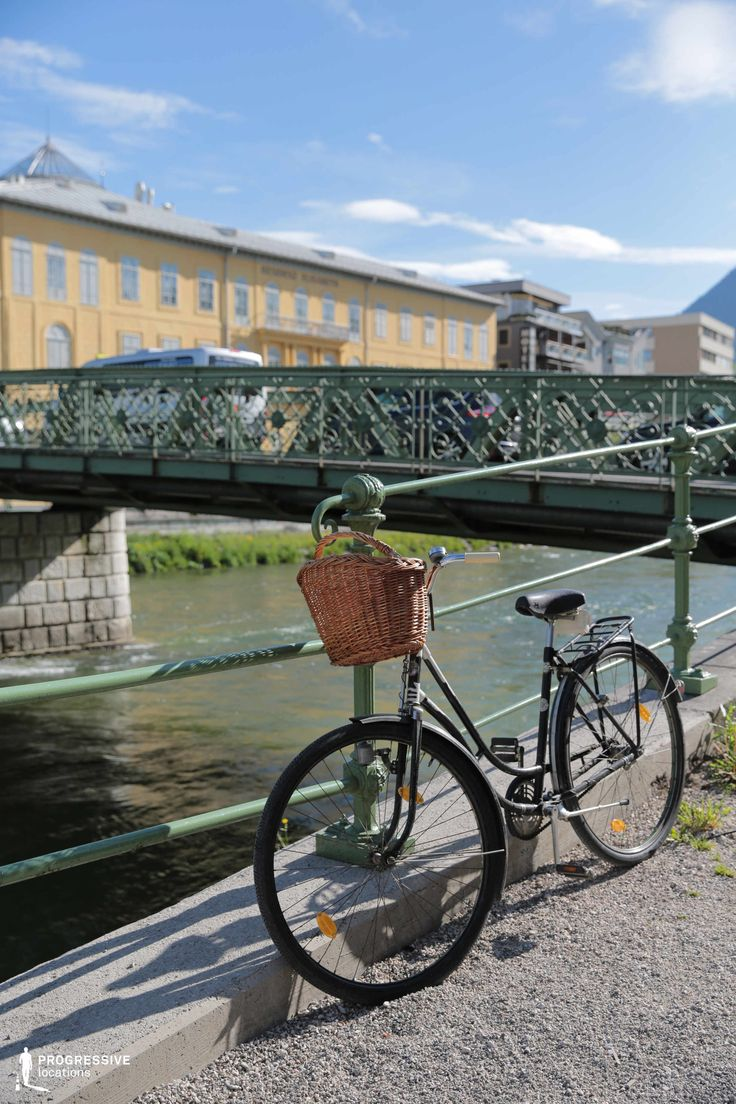 Locations in Austria: Bridge with Bike, Bad Ischl