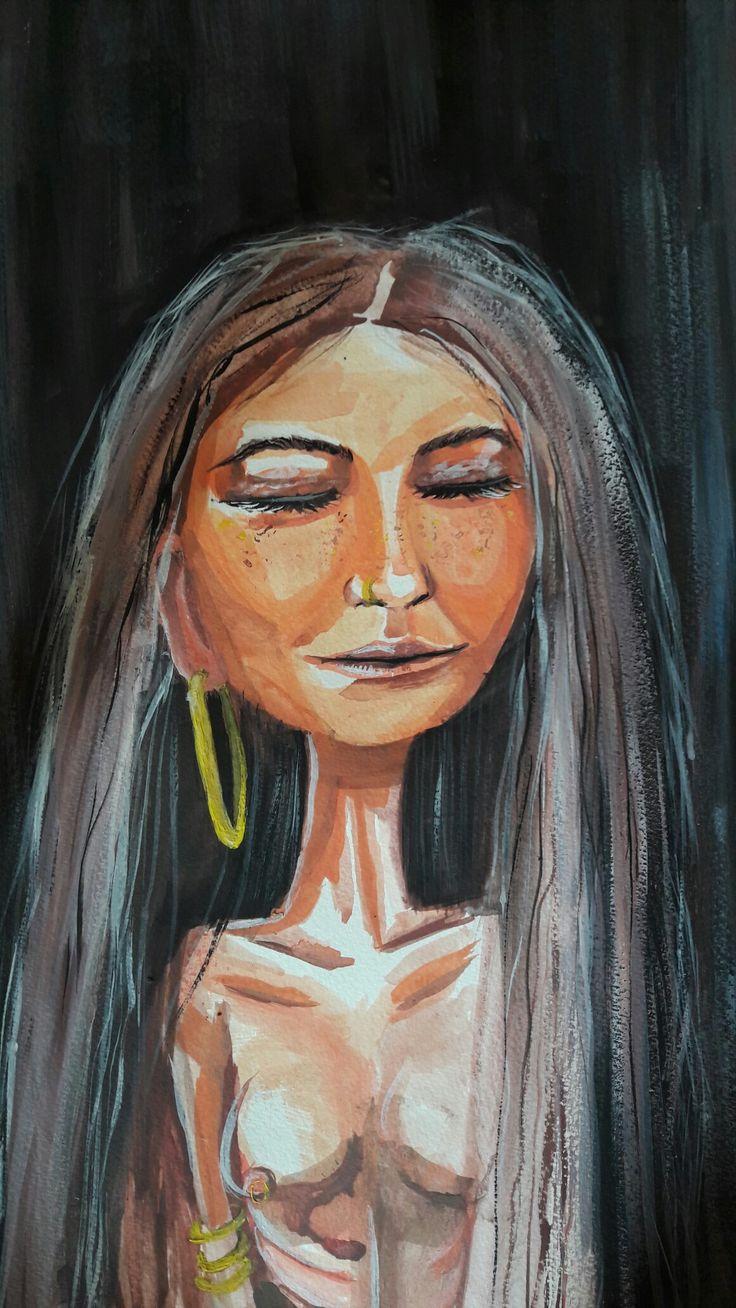 The Lady..My fav painting by me myself and I..    instagram:cservenyiszonja