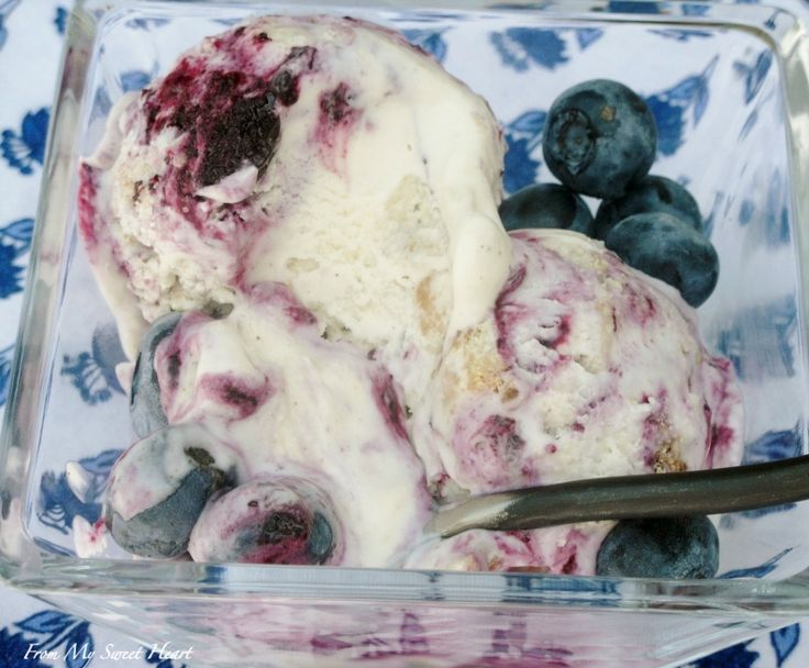 Blueberry Pie Ice Cream   From My Sweet Heart