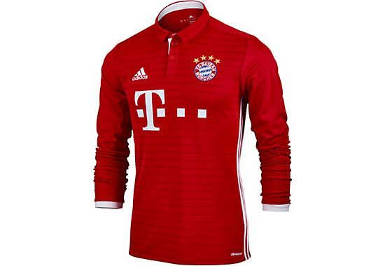 The 2016/17 adidas Bayern Munich L/S Home Jersey is now at http://www.soccerpro.com
