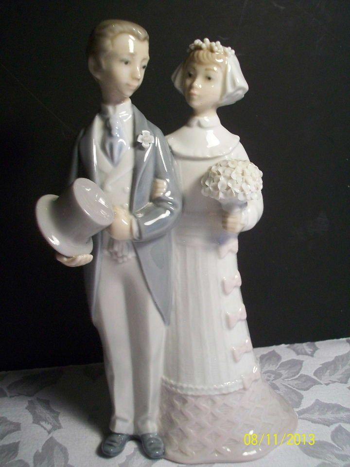 Vintage Lladro Bride And Groom Wedding Bells Statue Figurine 4808 Grooms