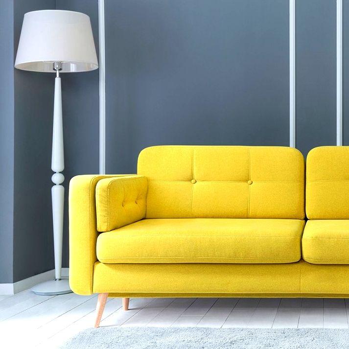 Żółta sofa CORNET w kolorze Bella-428-YELLOW ☀ #TwojeMeble #TwojaSofa #Sofa #CORNET-II-LUX #BRW-Sofa