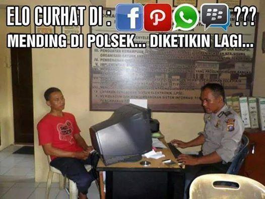 Curhat mending di Polsek - #Meme - http://wp.me/p3MK7L-bvs