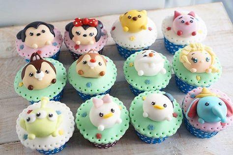 Disney tsum tsum cupcakes