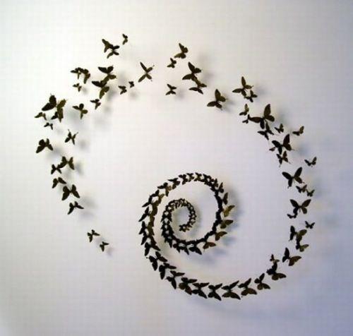 3D wall art by Paul Villinski  I already have some 3D butterflies, but I still love this...
