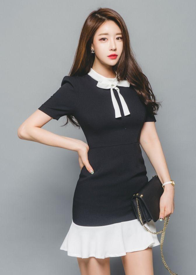 Luxe Asian Women Design Korean Model Fashion Style Dress Luxe Asian Women…    Korean fashion, Korean fashion dress, Korean fashion trends