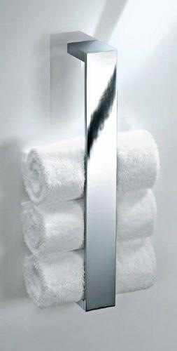 Wall-mounted towel rack / 1-bar BK HTE 41 Decor-Walther Einrichtungs