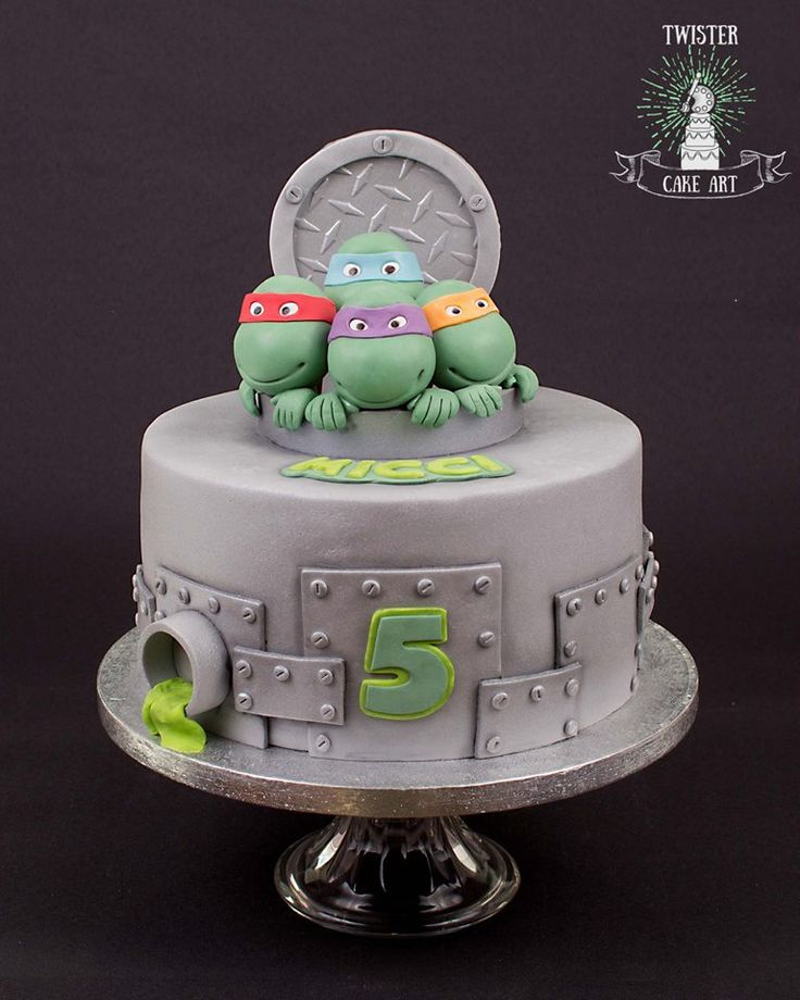 Teenage ninja turtles cake