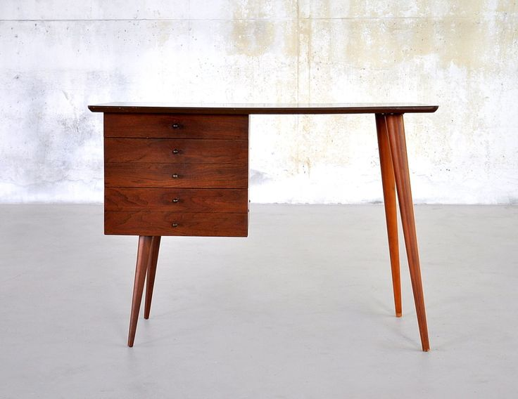 1950s Mid-Century Danish Modern Walnut Desk Vanity Table ...