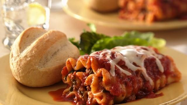 Beef and Spinach Lasagna Roll-Ups Recipe: Ground Beef, Maine Dishes, Roll Ups, Lasagna Rolls Ups, Food, Dinners, Spinach Lasagna Rolls, Lasagna Rollup, Lasagna Recipes