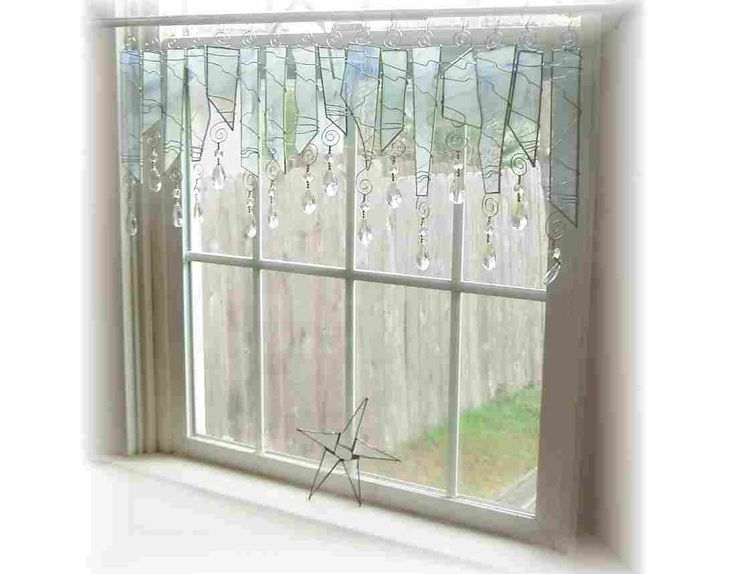 April Showers Stained Glass Window Treatment Valance