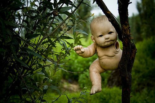 La Isla de las Muñecas, Mexico, is probably one of the most disturbing islands on Earth - thousands of old decrepit dolls hang from the trees, watching your every move with their lifeless eyes.