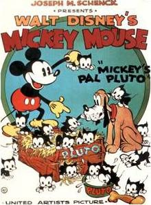 *MICKEY ~ poster for Mickey's pal Pluto