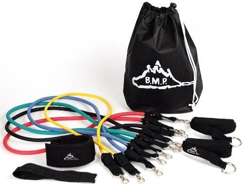 Black Mountain Products Resistance Band Set with Door Anchor, Ankle Strap, Exercise Chart, and Resistance Band Carrying Case by Black Mountain Products. $29.99. Amazon.com                 Resistance bands, also known as exercise bands, fitness tubes, and resistance cords, are a great way to add variety to your strength training routine. Black Mountain Products resistance bands are made from high quality, natural latex material to ensure maximum life. Each resistance band set co...