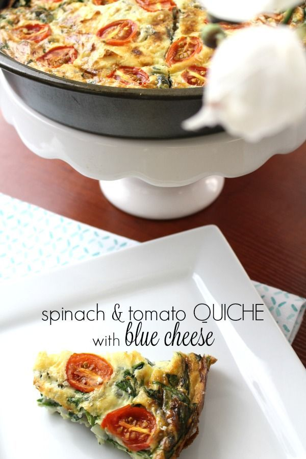 Spinach and Tomato Quiche with Blue Cheese | Recipe | Tomato Quiche ...