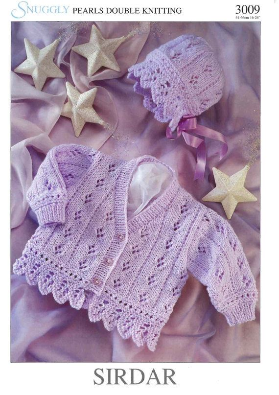Vintage PDF Baby Knitting Pattern DK/Light by carolrosa on Etsy, $1.75
