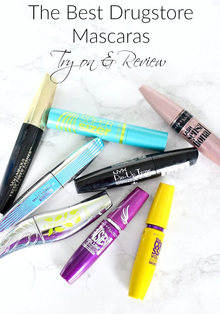 The Best Drugstore Mascaras | Try on and Review