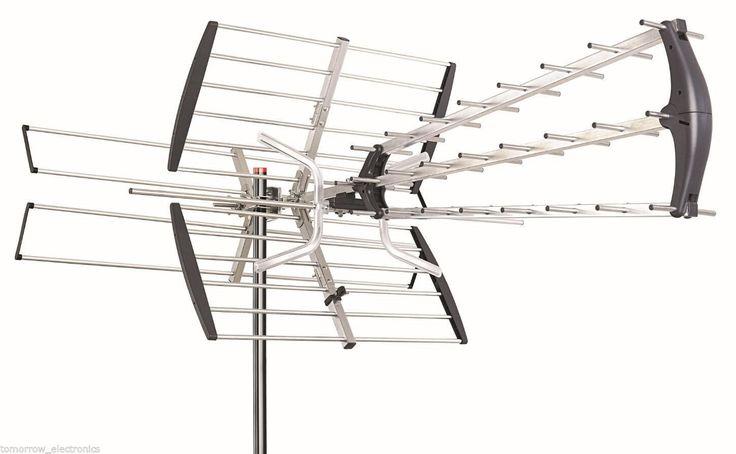 180 Mile HDTV 1080p Outdoor Amplified HD TV Antenna Digital UHF/VHF FM Radio | eBay