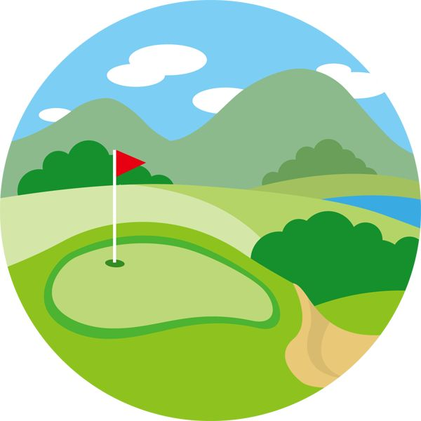 ゴルフ場 絵 - Google 検索
