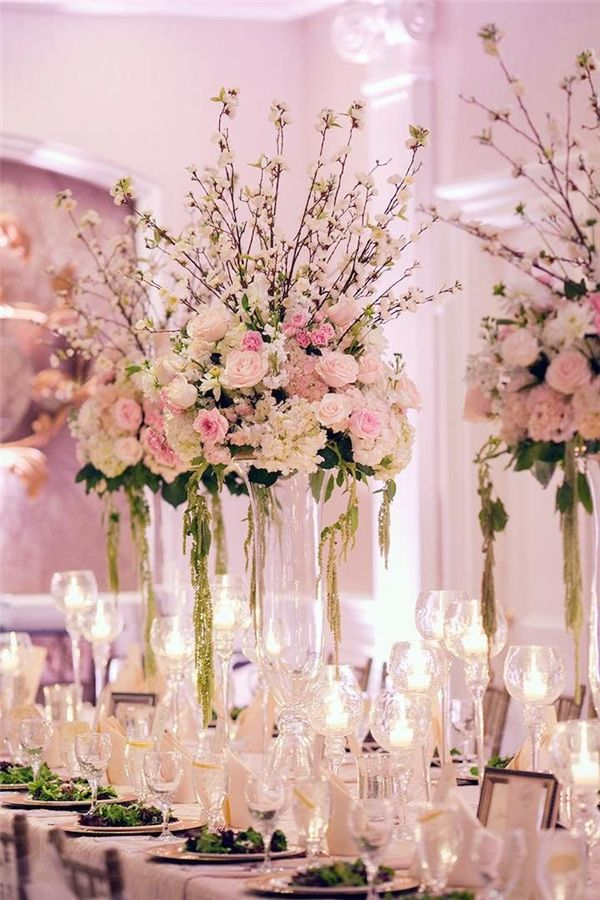 20 Glam Tall Floral Wedding Centerpieces