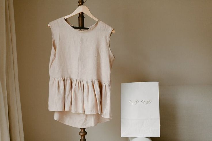 Linen blouse. Tactile pieces by She Is Visual
