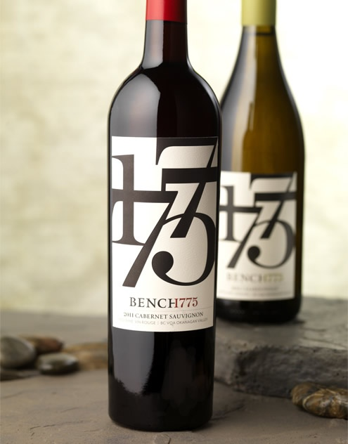 Bench 1775 - Canada Paradise Ranch Wines Wine Label & Package Design