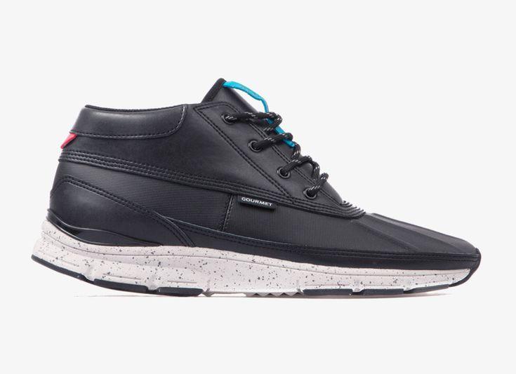 Kotníkové boty Black Scale x Gourmet Quadici Lite — černé tenisky — podzim/zima 2014  #sneakers #midtops #blackscale #gourmet #black #shoes