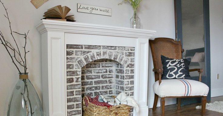 "Stay cozy and warm up around a ""new"" fireplace this holiday season. Check out these great DIY faux fireplaces."