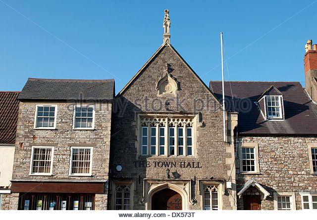 The town hall, Chipping Sodbury, Gloucestershire, England, UK - Stock Image