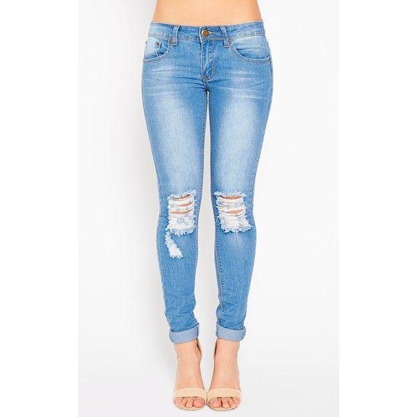 25  parasta ideaa Pinterestissä: Blue Ripped Jeans | Revityt ...