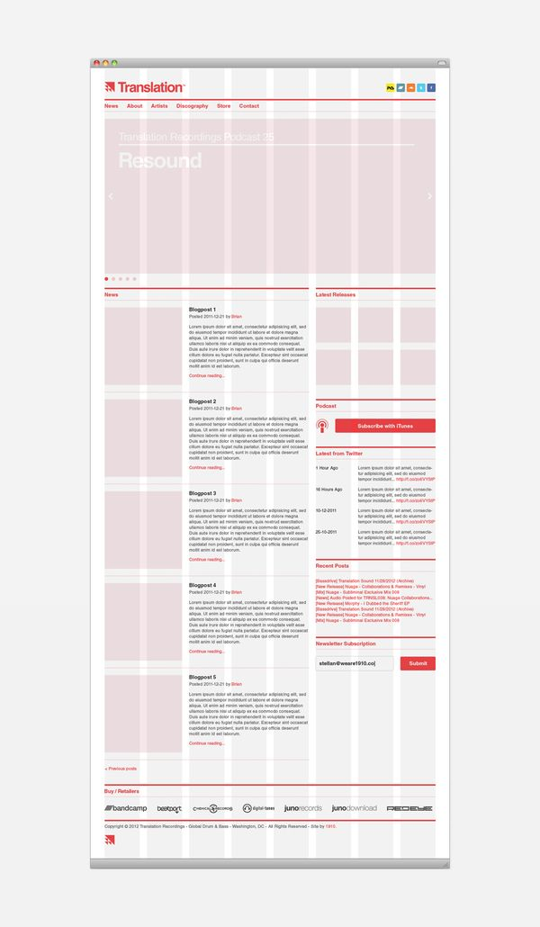 Use dat grid. Translation Recordings by 1910 Design & Communication , via Behance