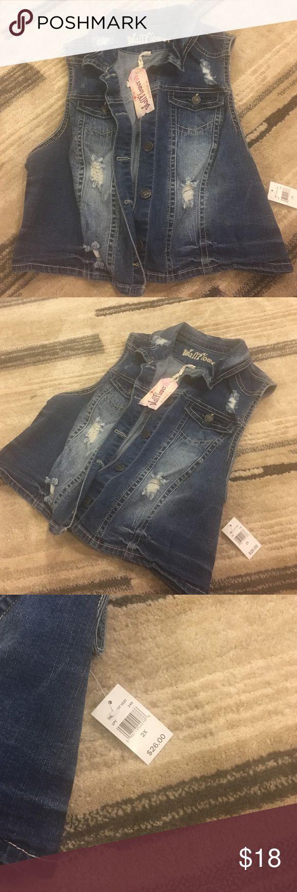 Wallflower Jean Cut off Jacket New with tags!!! 👌🏼 Wallflower Tops